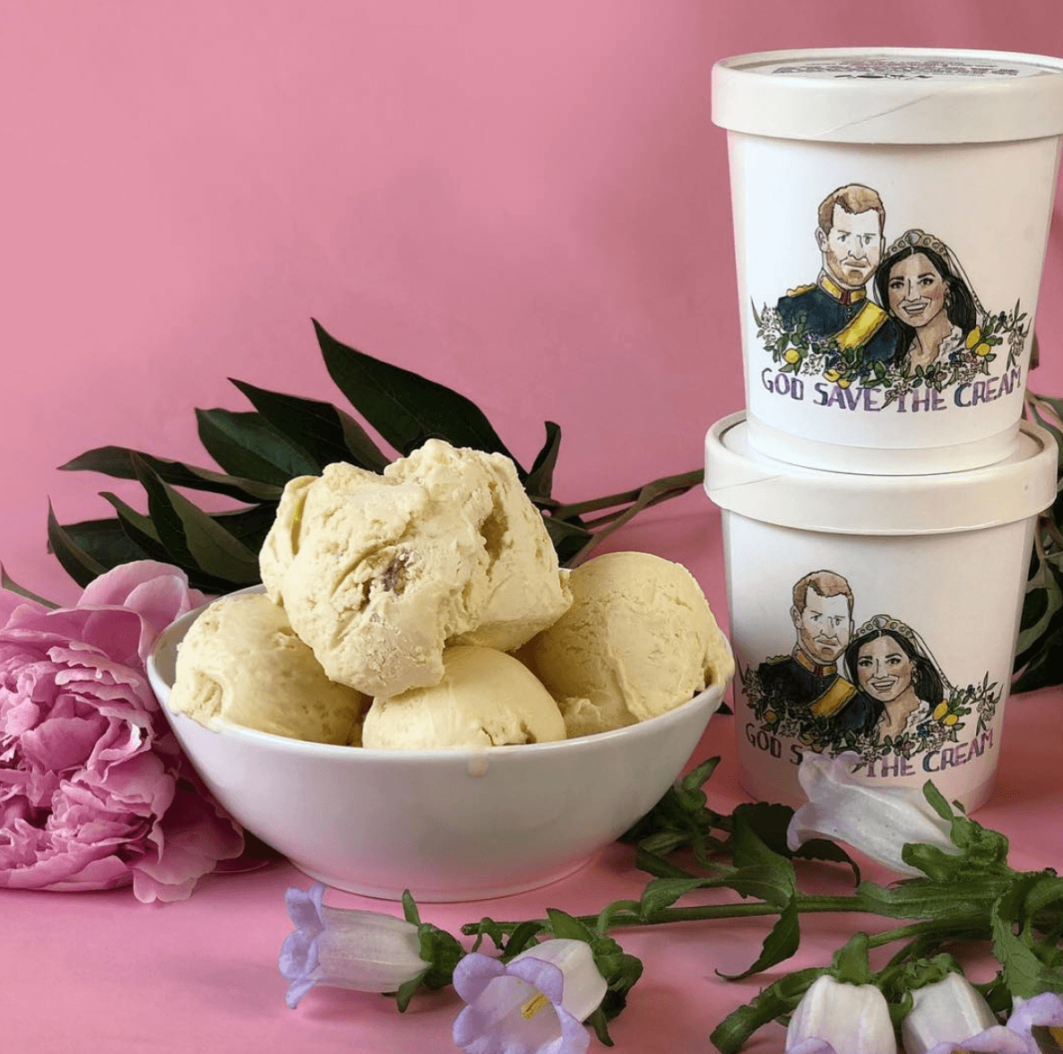 Royal wedding ice cream