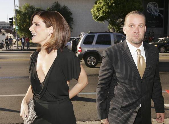 Actress Sandra Bullock and husband Jesse James