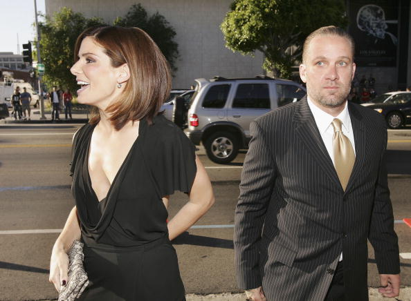 Actress Sandra Bullock and husband Jesse James