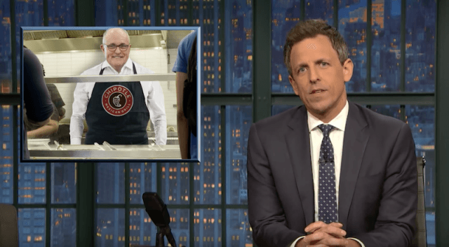 Seth Meyers talking about Giuliani on his segment.