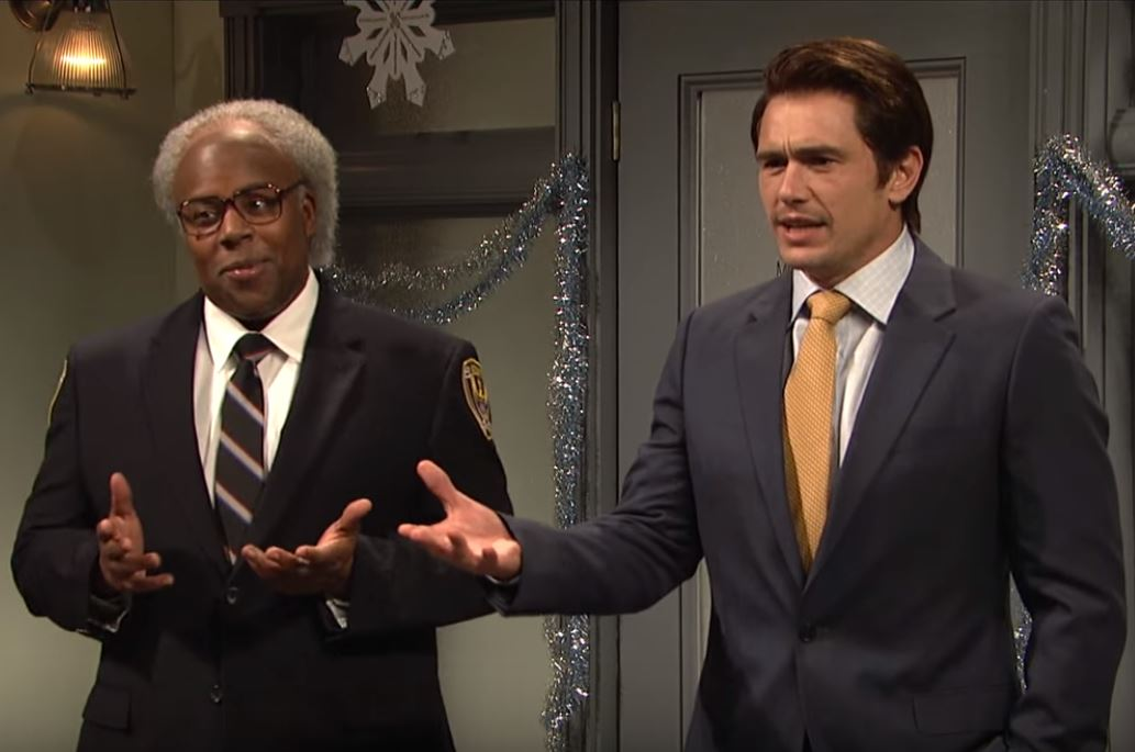Kenan Thompson and James Franco in SNL