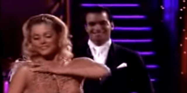 Shanna Moakler and Jesse DeSoto during their dance routine.