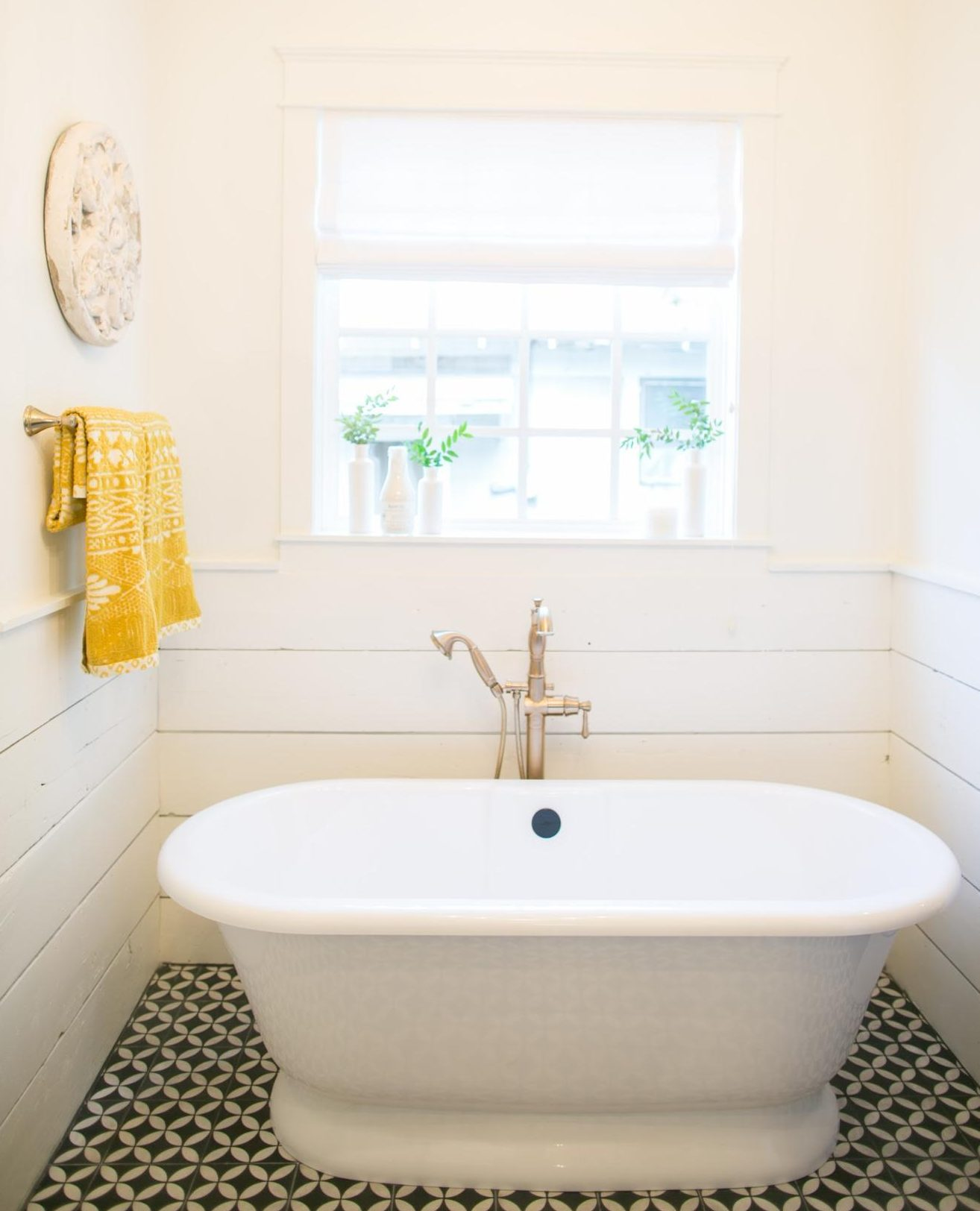 Shiplap in a bathroom
