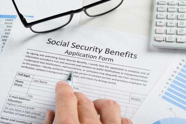 Filling out social security forms