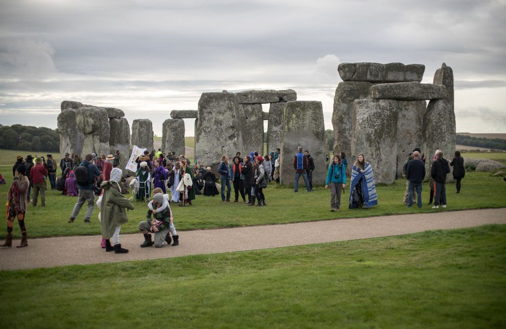Druids, pagans, and revellers gather at Stonehenge
