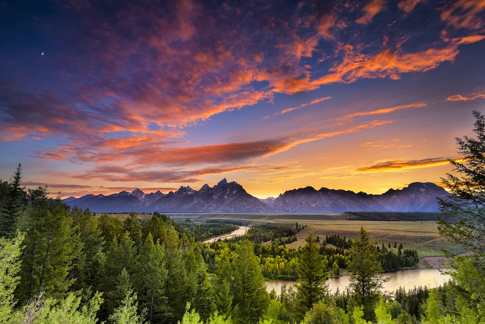 Mountains from Grand Teton National Park