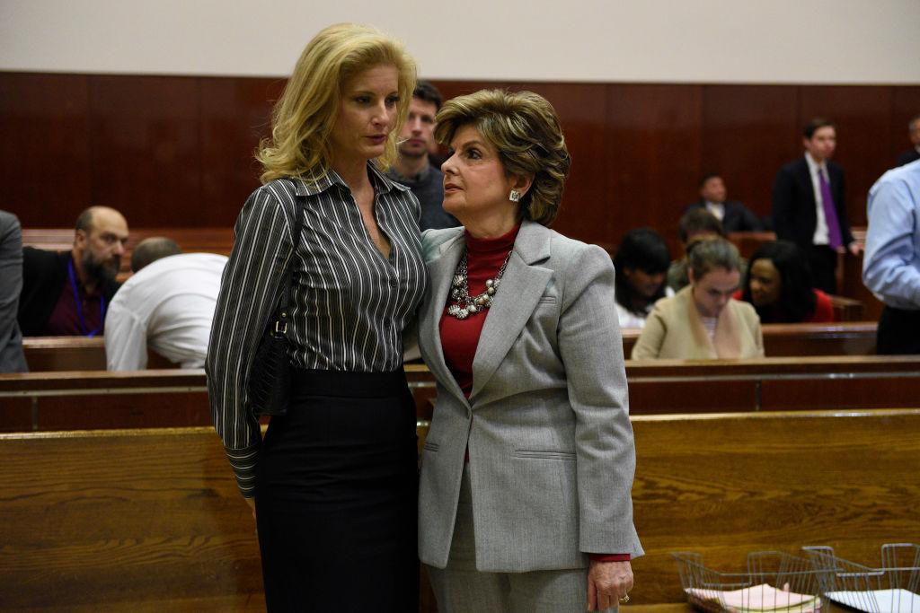 Summer Zervos with Gloria Allred in court