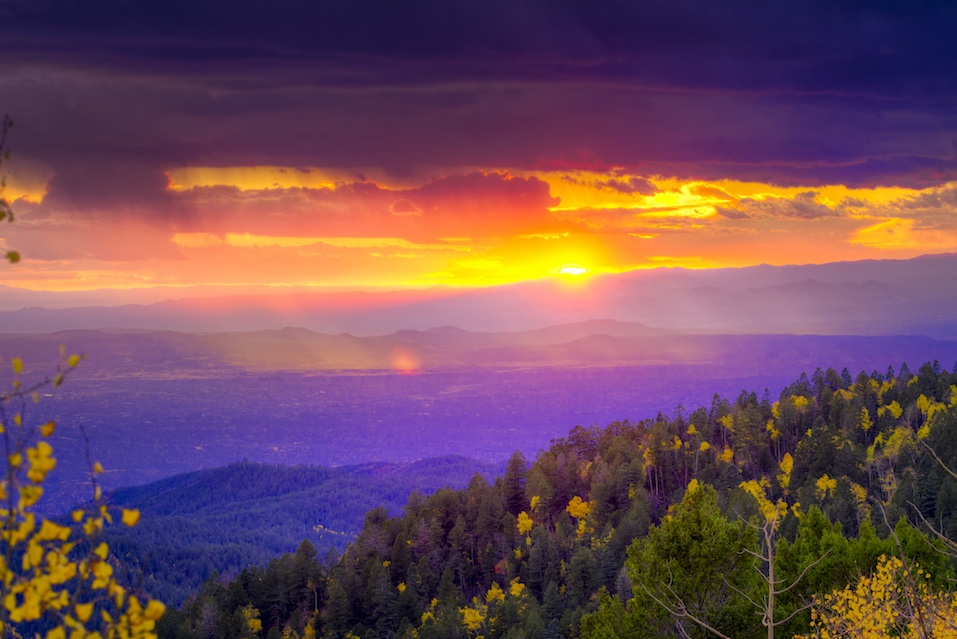 Sunset at Santa Fe New Mexico