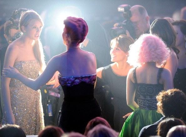 Singers Taylor Swift, Katy Perry and Nicki Minaj at the 2011 American Music Awards
