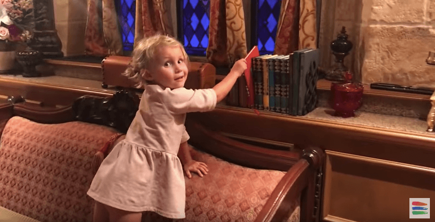 The Bucket List Family explores Cinderella's Castle at Disney World