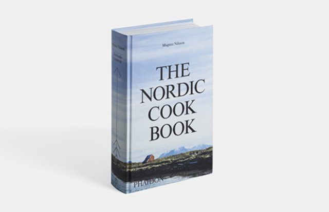 The Nordic Cookbook on a white background.