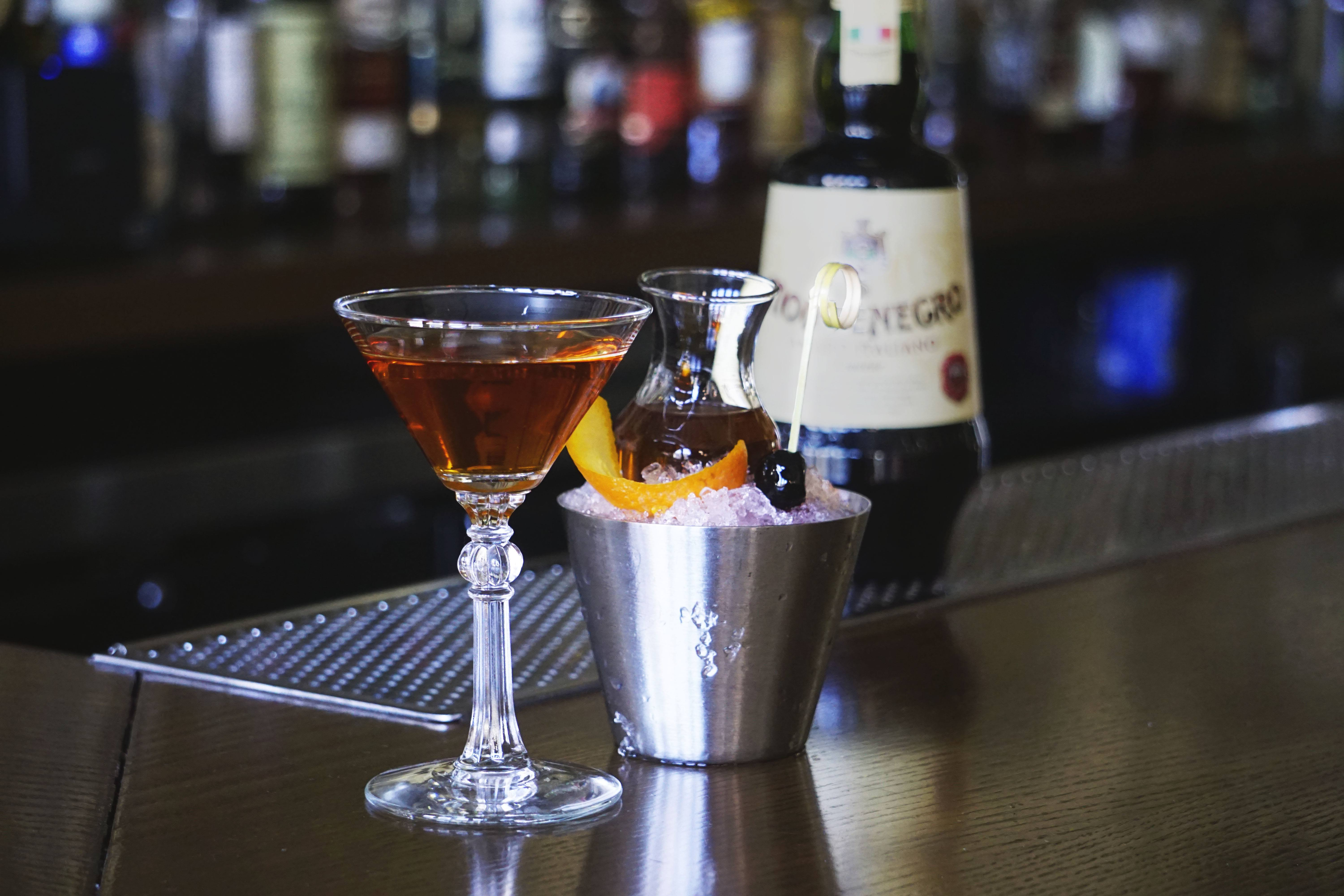 The Queen Martini with Bottle