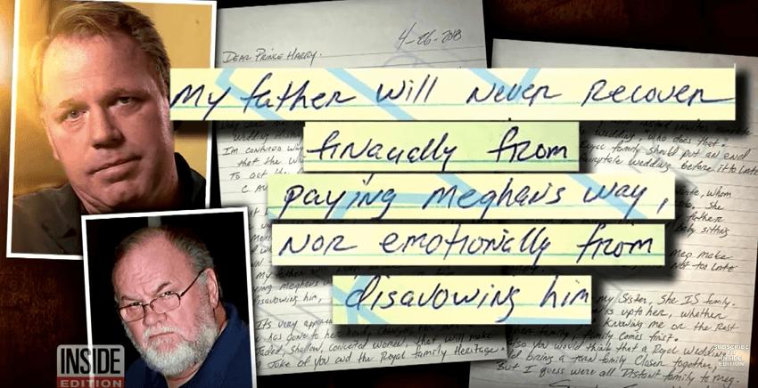 Thomas Markle's Letter About Meghan Markle