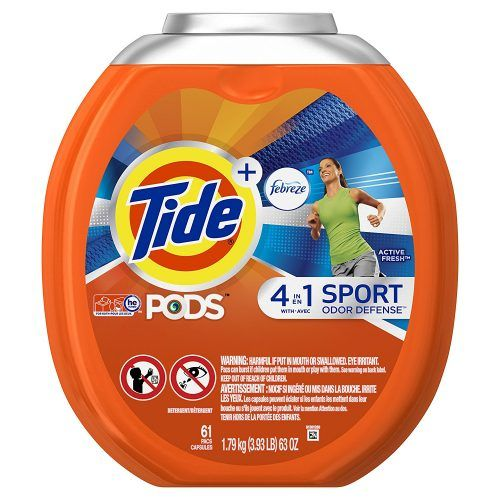Tide PODS Plus Febreze Sport Odor Defense 4 in 1 HE Turbo Laundry Detergent Pacs, Active Fresh Scent