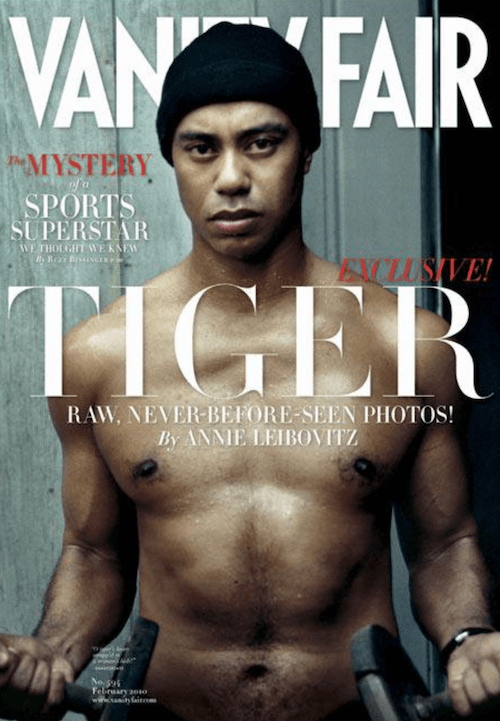 Tiger Woods on the cover of 'Vanity Fair'.