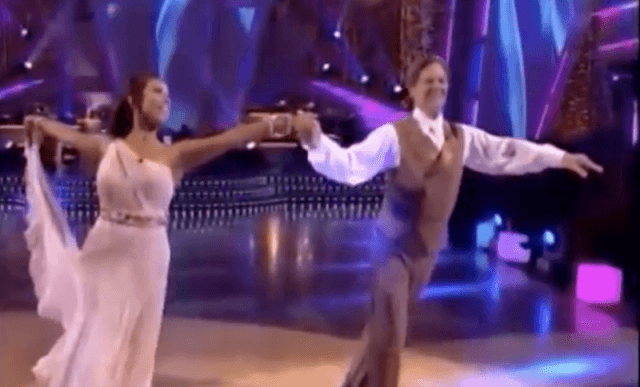 Tom Delay and Cheryl Burke performing their dance routine.