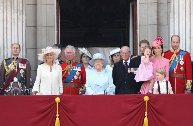 The royal family at the Trooping The Colour 2017 event.