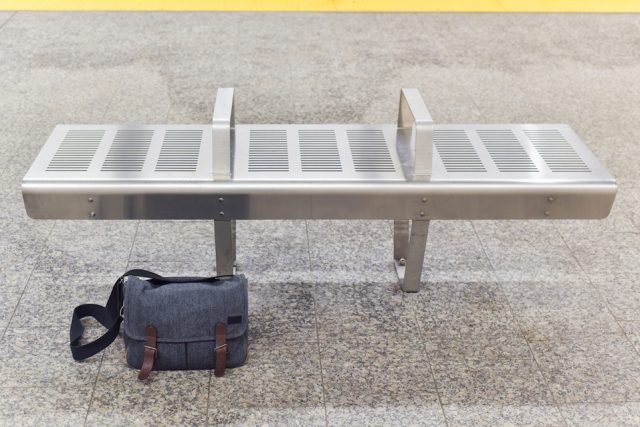 Unattended Bag Near a Subway Bench