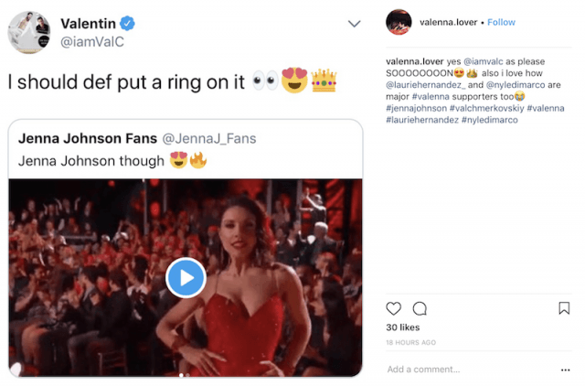 Valentin's tweet about the proposal.