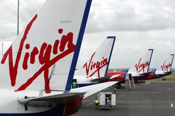 Boeing 737-800s of Australian budget airline Virgin Blue line
