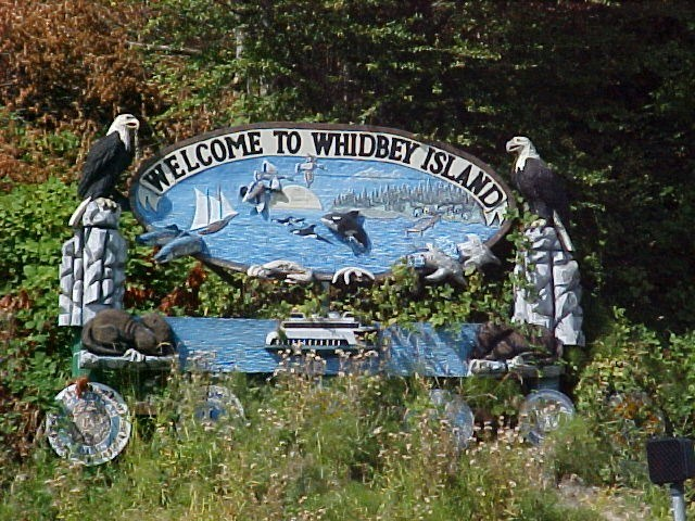 Whidbey Island welcome sign