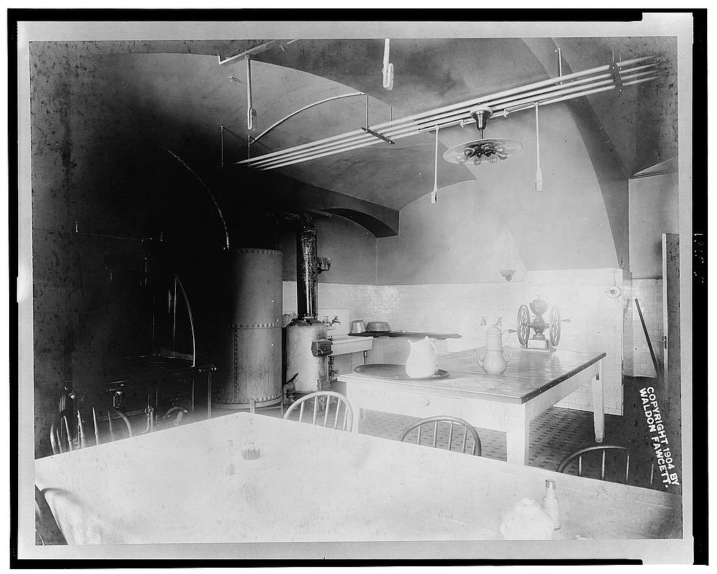 White House kitchen 1904