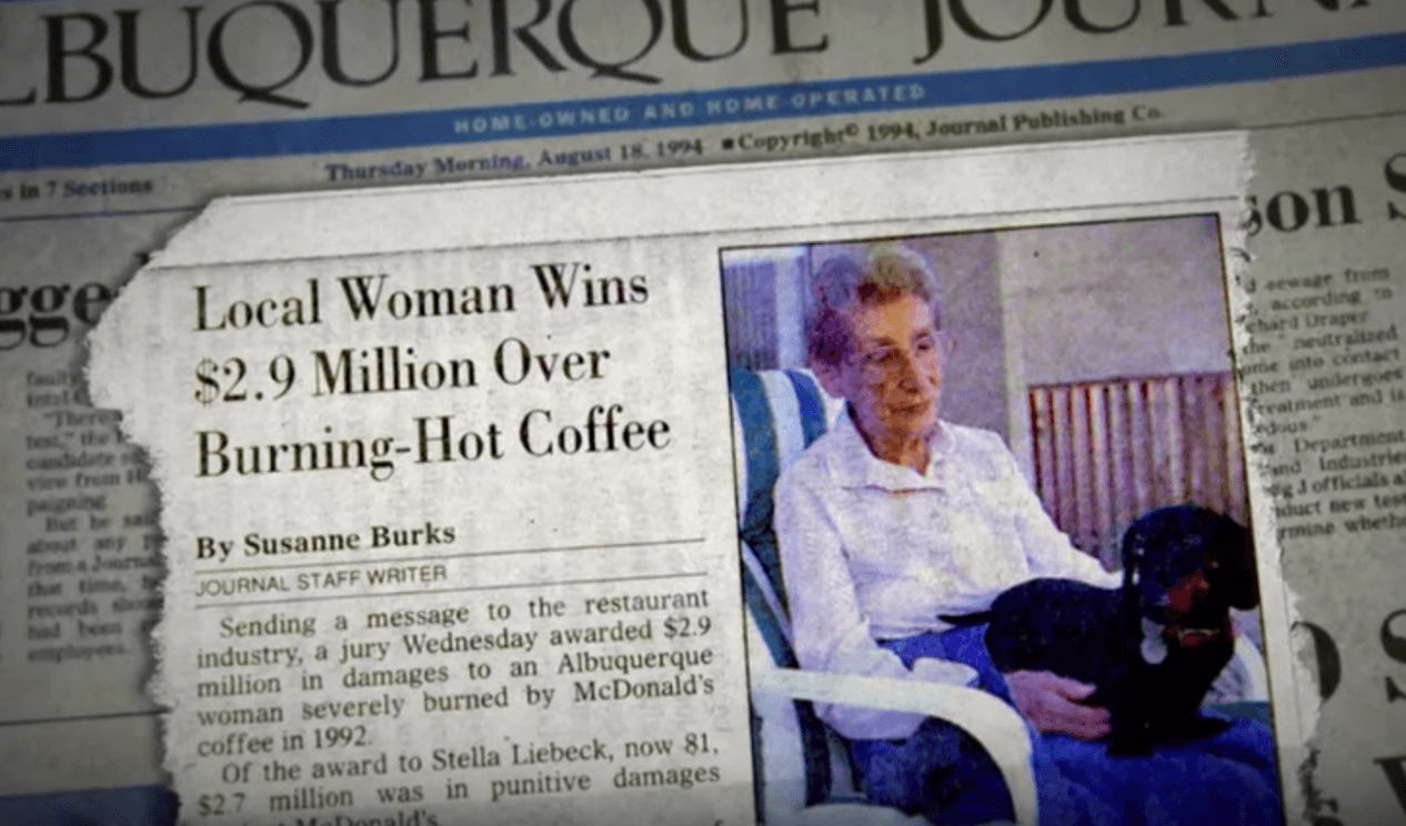 Woman coffee lawsuit