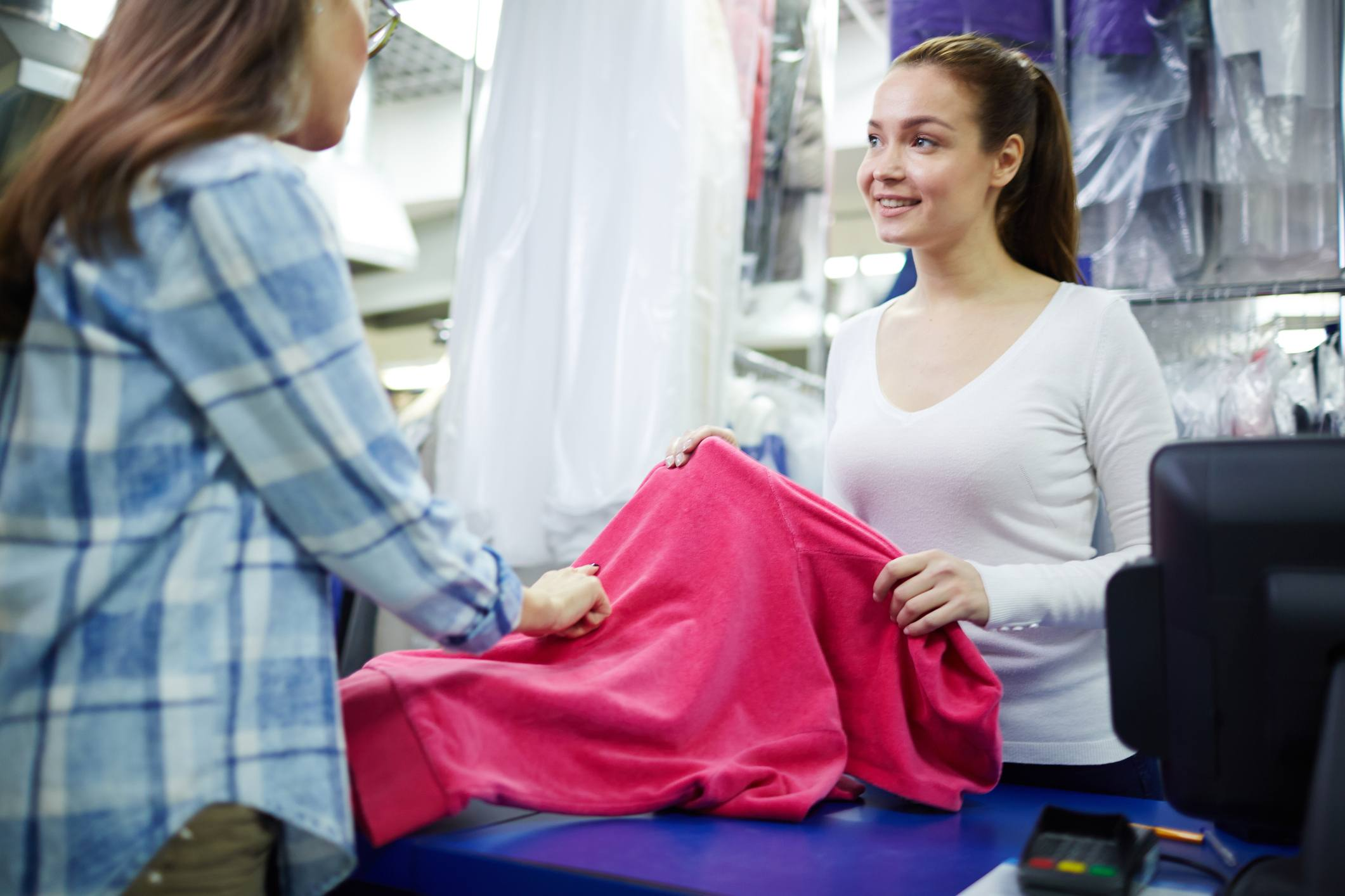 Woman dry cleaner