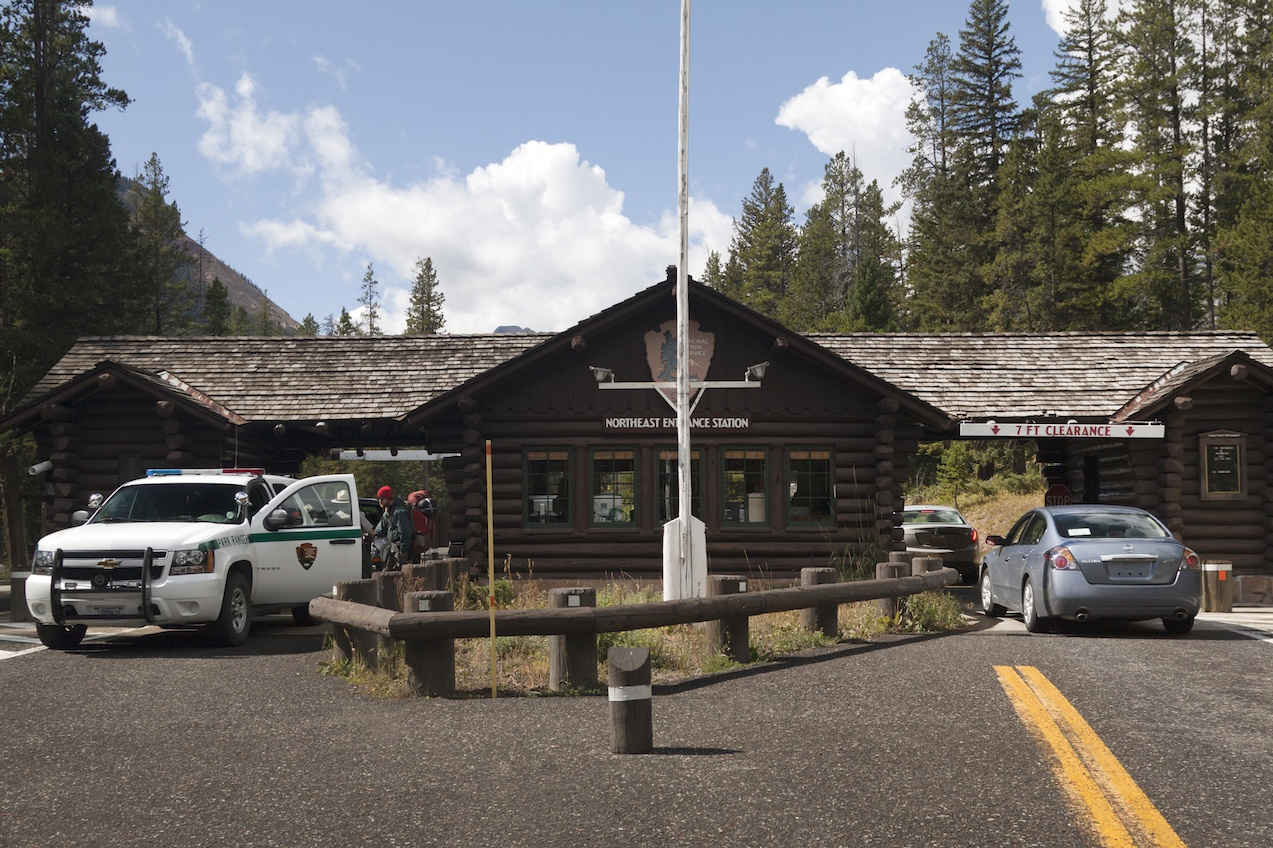 Northeast Entrance Station of Yellowstone National Park
