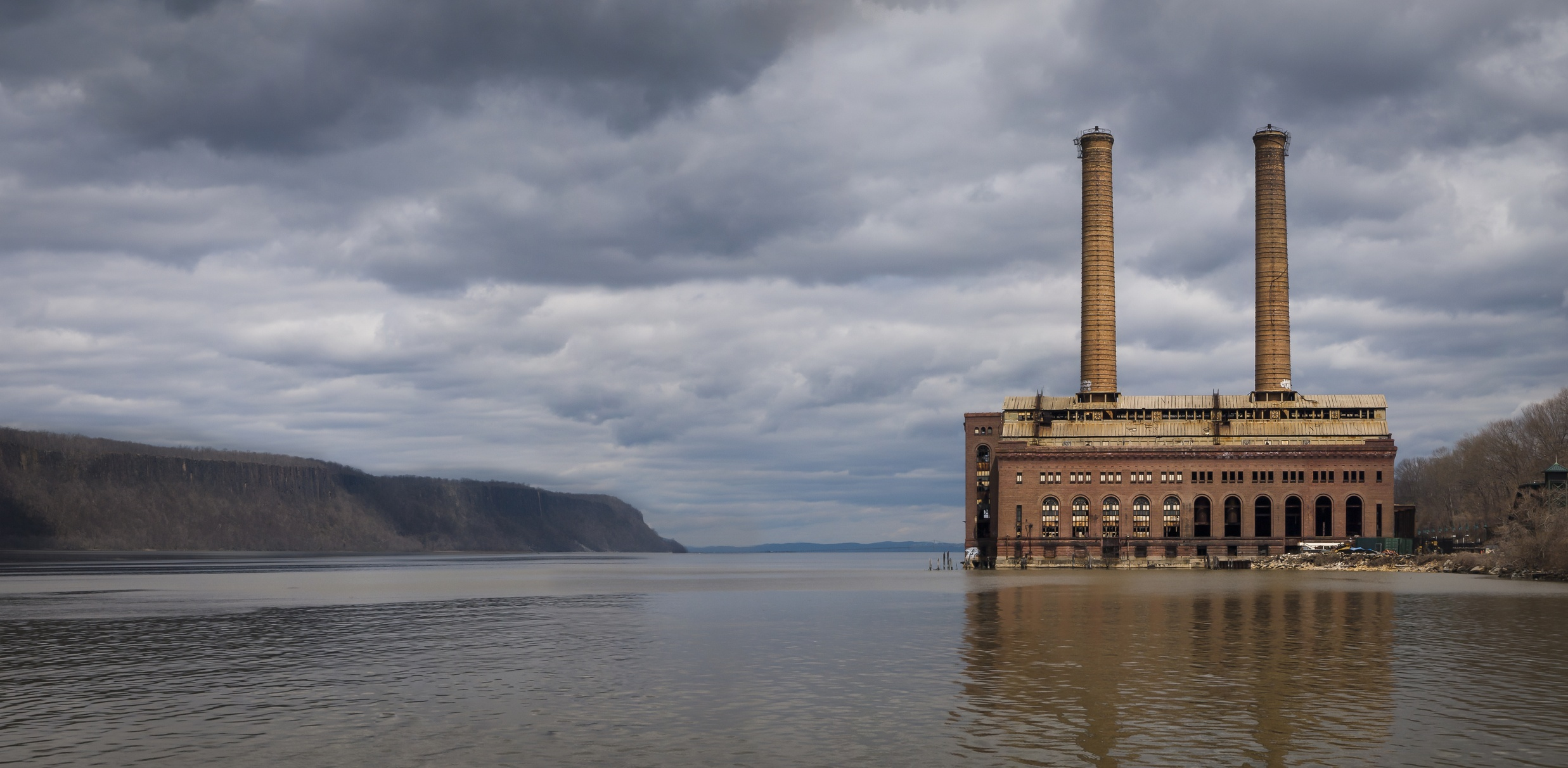 Abandoned Power Station on the Hudson River