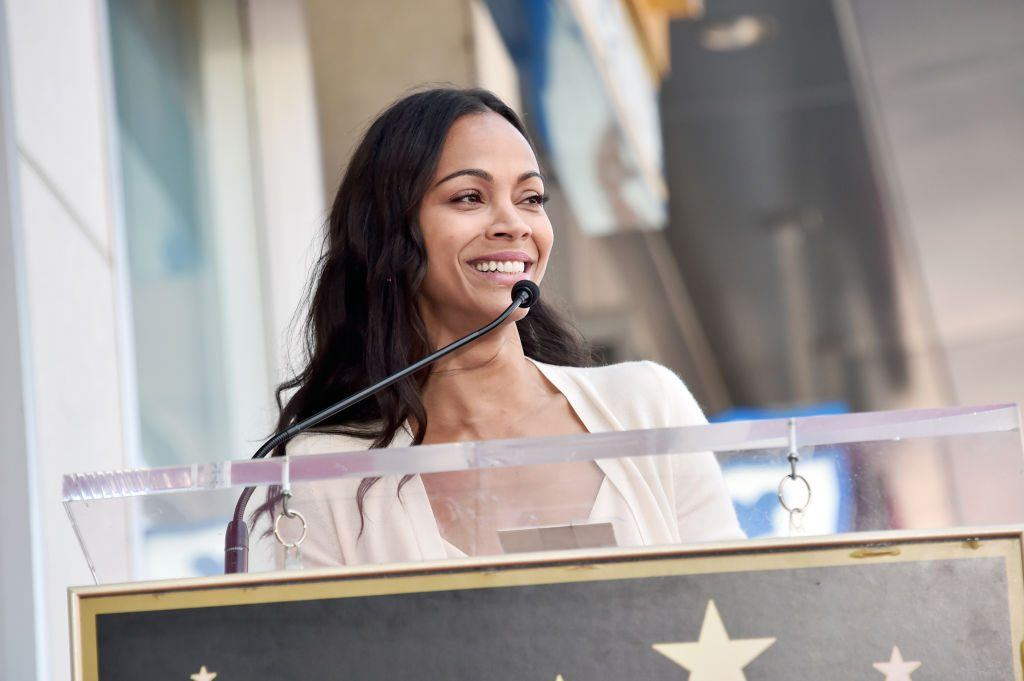 Zoe Saldana Star at Walk of Fame Ceremony