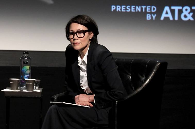 Ann Curry speaks on stage at Showtime's World Premiere of The Fourth Estate at Tribeca Film Festival Screening at BMCC Tribeca Performing Arts Center on April 28, 2018 in New York City.