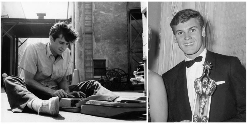 Anthony Perkins and Tab Hunter composite