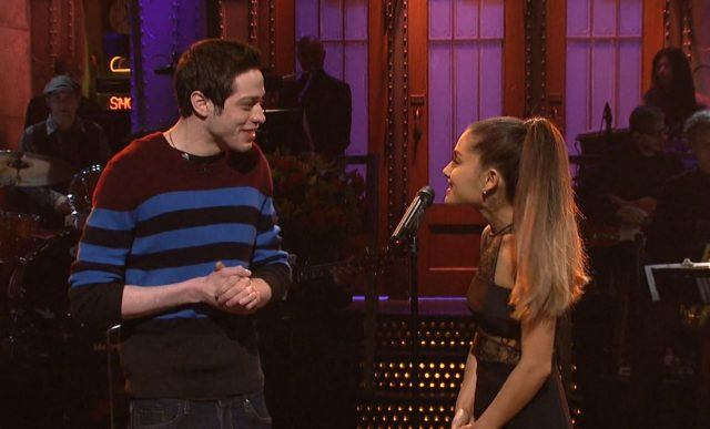 Ariana Grande and Pete Davidson on Saturday Night Live