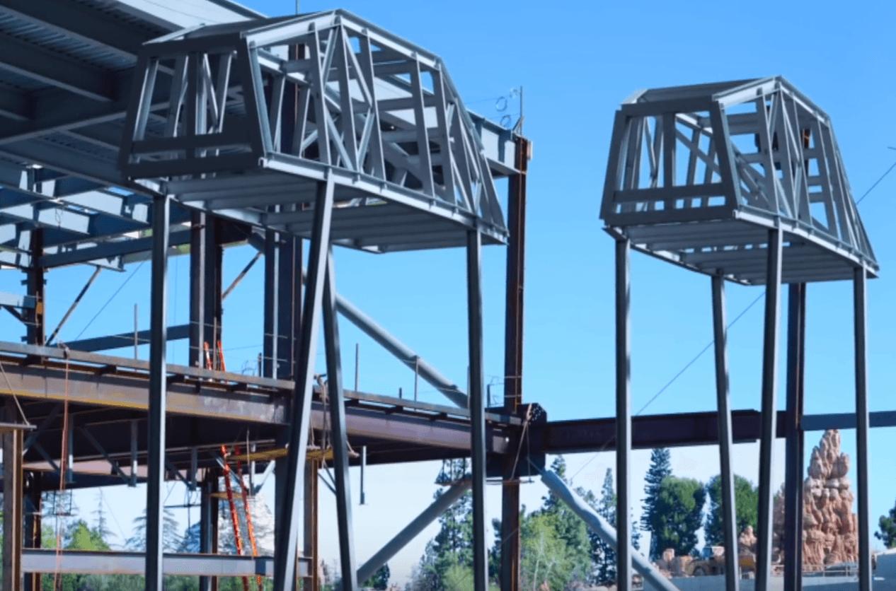 Construction of the At-Ats at Star Wars: Galaxy's Edge