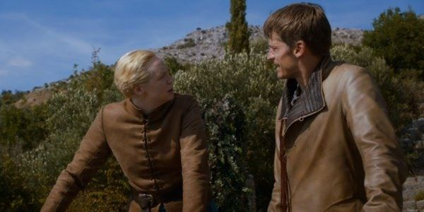 Brienne of Tarth and Jaime Lannister on Game of Thrones