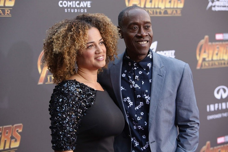 Actors Bridgid Coulter (L) and Don Cheadle attend the Los Angeles Global Premiere for Marvel Studios' Avengers: Infinity War on April 23, 2018 in Hollywood, California.
