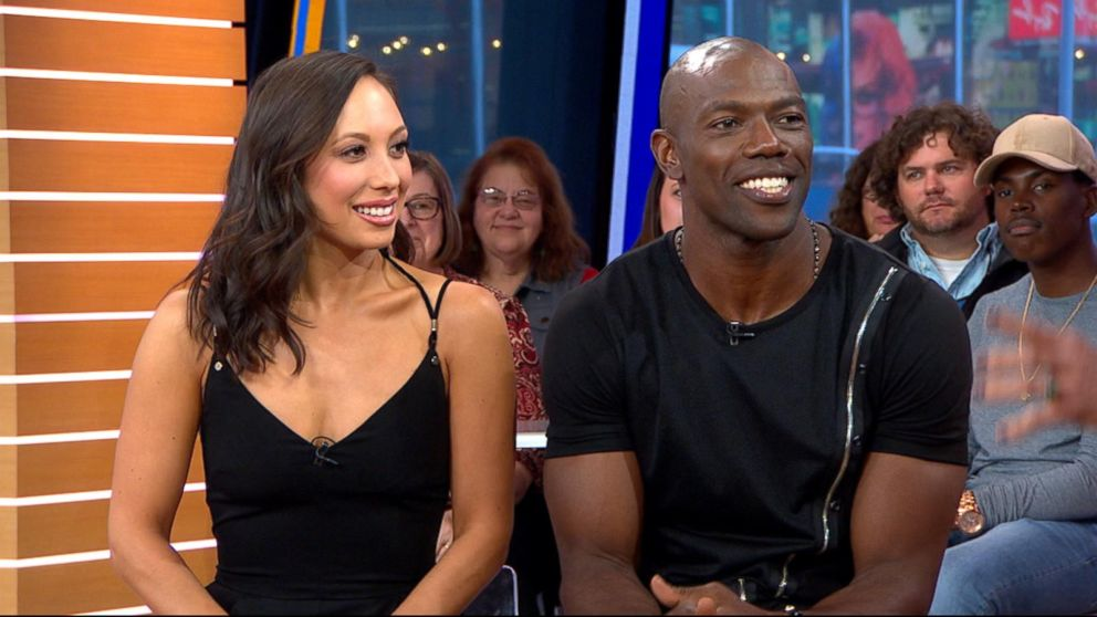 Cheryl Burke and Terrell Owens on Dancing with the Stars