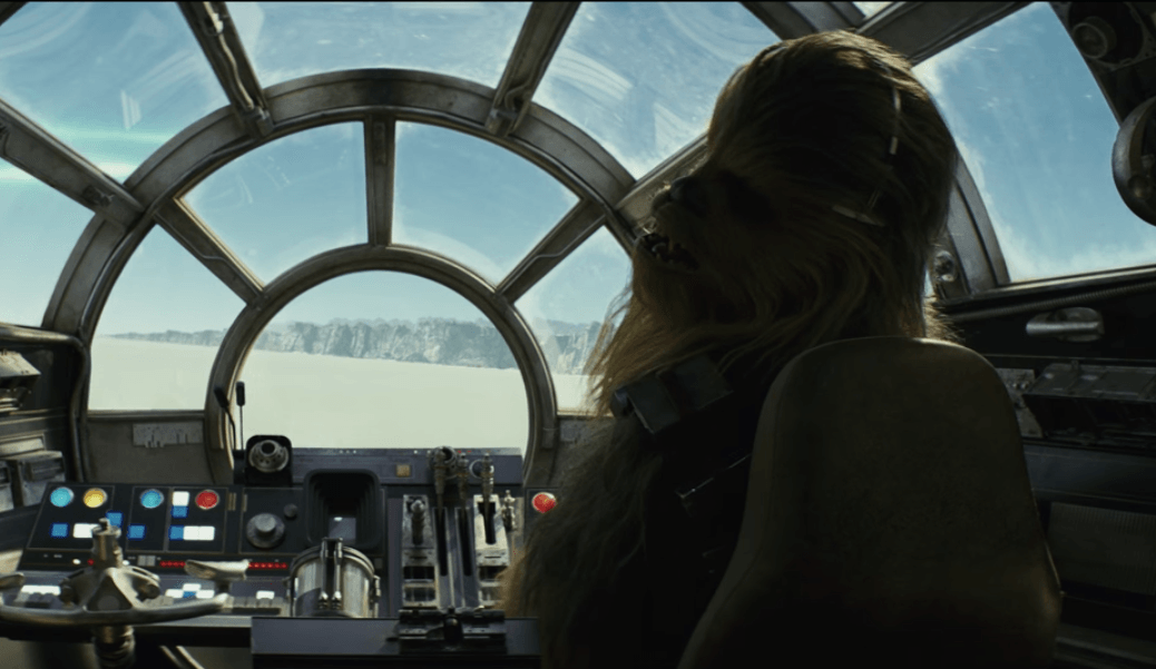 Chewbacca in the Falcon
