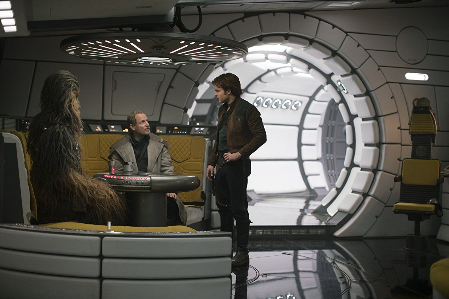 Chewie, Beckett, and Han in Solo: A Star Wars Story