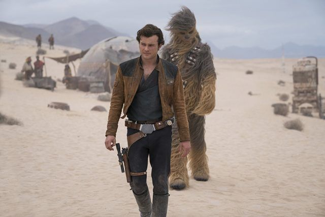 Chewie and Han in 'Solo: A Star Wars Story'.