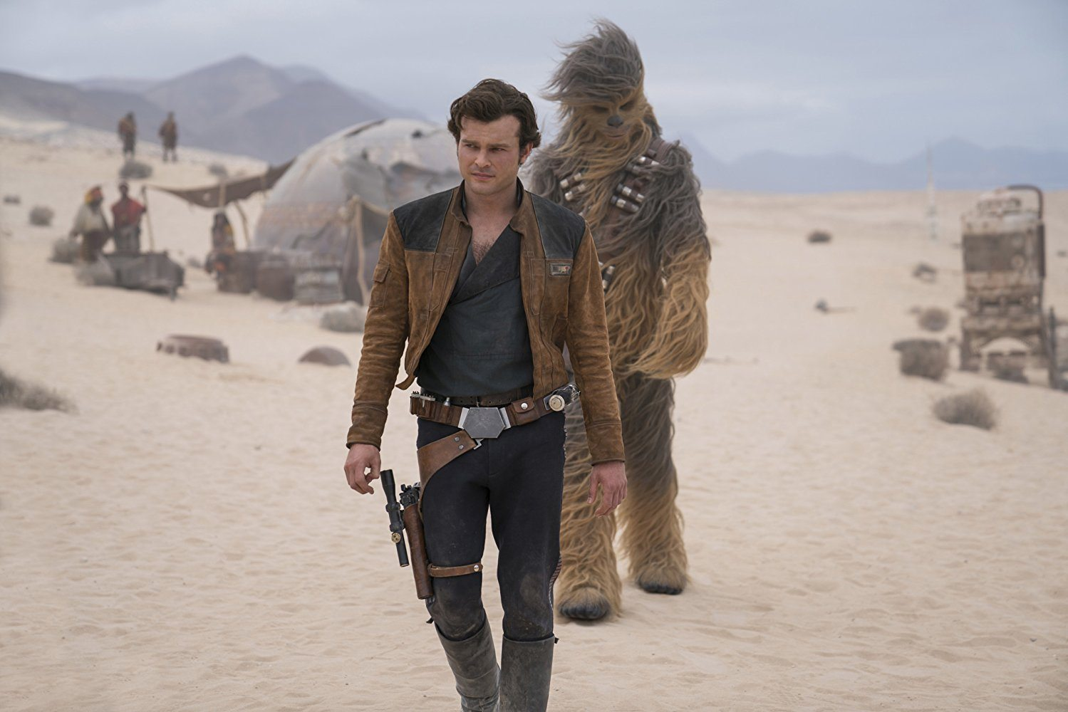Chewie and Han in Solo: A Star Wars Story