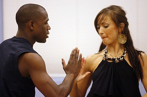 Floyd Mayweather and Karina Smirnoff on Dancing with the Stars