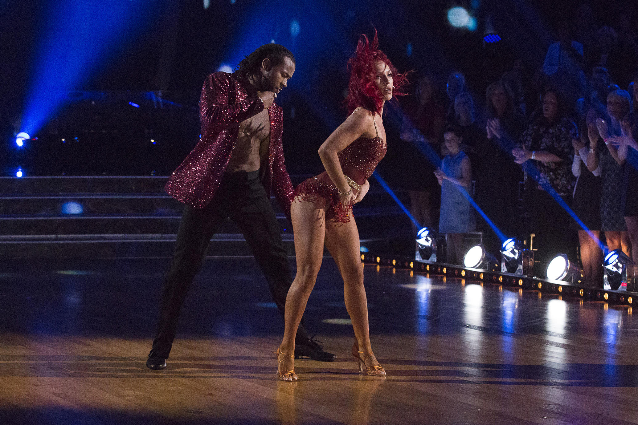 Josh Norman and Sharna Burgess on Dancing with the Stars