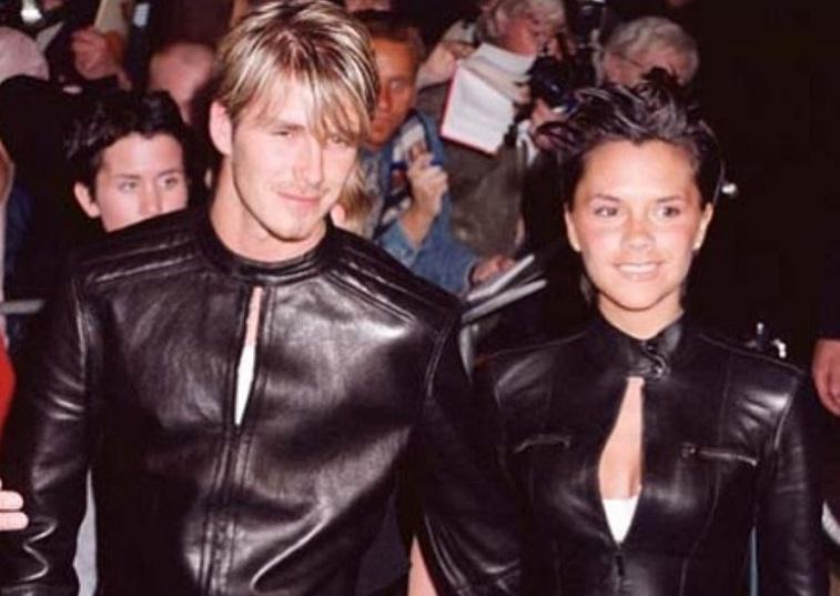 David and Victoria Beckham throwback photo