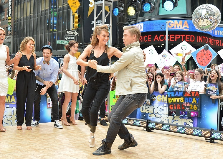 Derek Hough and Amy Purdy on Dancing with the Stars