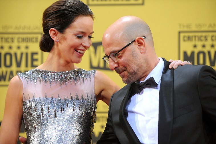 Emily Blunt and Stanley Tucci