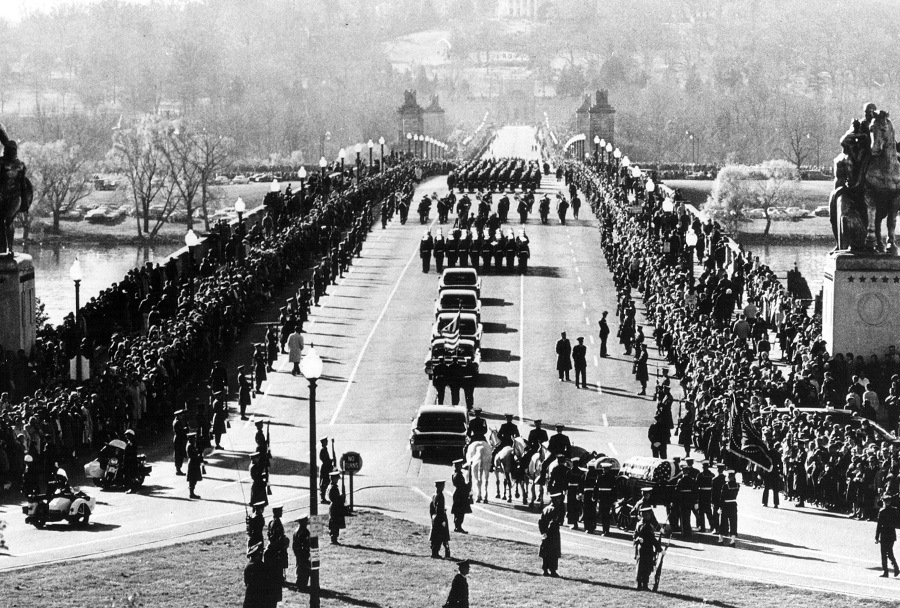 funeral procession of President John F. Kennedy
