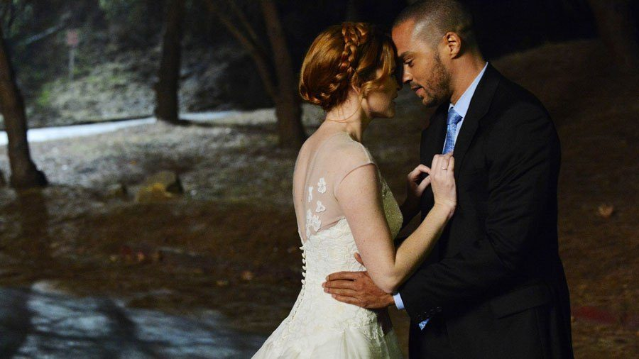 Jackson and April on Grey's Anatomy