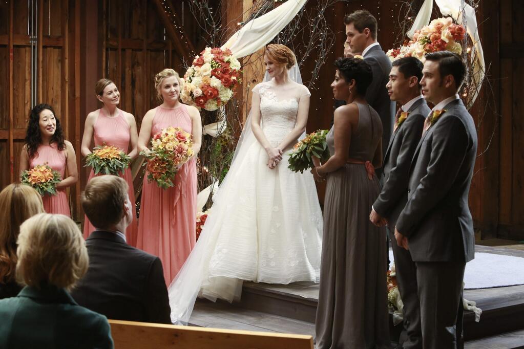 April and Matthew's wedding on Grey's Anatomy
